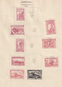 ARMENIA INTERESTING COLLECTION REMOVED FROM ALBUM PAGE - W640