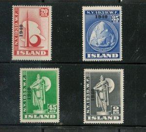 Iceland #232 - #235 Very Fine Never Hinged Set
