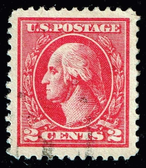 US STAMP #528B – 1920 2c Washington Perf 11 carmine TVII used SUPERB