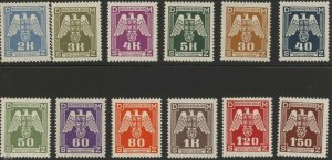 Stamp Germany Bohemia Czechoslovakia Official Mi 13-24 1940 WWII War Era War MH