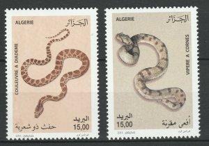 Algeria 2011 Fauna Reptiles Snakes 2 MNH stamps