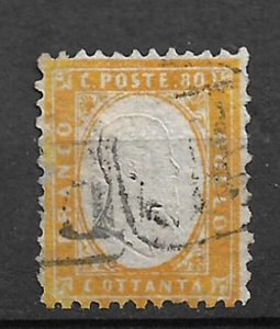 COLLECTION LOT #216 ITALY # 21 1862 CV= $1900