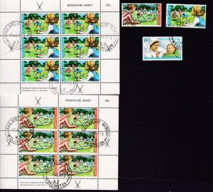 New Zealand the 1971 Health mini sheet pair & set CTO