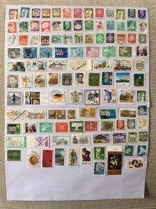 German 100+ stamps - Lot I