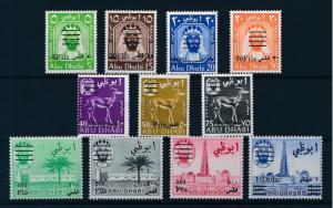 [96534] United Arab Emirates Abu Dhabi 1966 Def. Incl. Rare 20F Perf. 14½  MNH