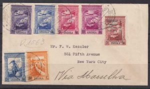 Angola 1938 SC C7 Var on Cover Very RARE