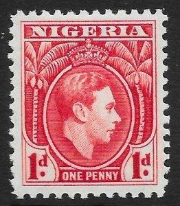 NIGERIA SG50 1938 1d CARMINE MTD MINT