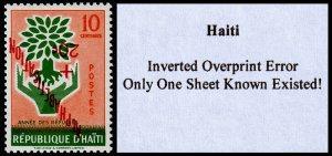 Haiti Scott B14 Inverted Overprint Error (1960) Mint NH VF, CV $249.00 C
