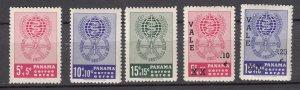 J27643 1961 & 2 panama sets, mnh #,c271-2 ovpt,s,cb1-3
