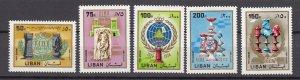 J26867 1980-1 lebanon set mh #c798-802 sports