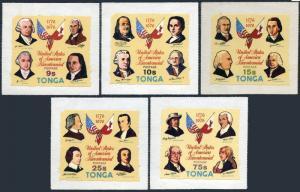 Tonga 377-81,C194-C198,MNH. US-200,1976.Declaration of Independence,Flags.