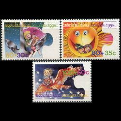 ARUBA 1994 - Scott# B37-9 Child Welfare Set of 3 NH