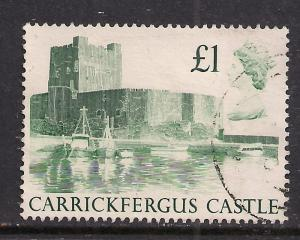 GB 1988 QE2 £1 Castle used SG 1410 ( E181 )
