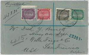 COOK -  POSTAL HISTORY:  registered COVER to USA w/arrival cancelation 1902
