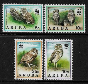 Aruba #101-4 MNH Set - Burrowing Owl - 40% Cat.