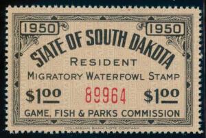 US South Dakota Scott #2 Mint, VF+, NH