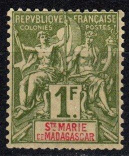 Ste Marie De Madagascar #13 Unused CV $52.50 (X5381)