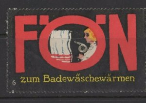 Germany AEG Foen Many Uses of an Electric Hairdryer Vignette - Linen Dryer NG