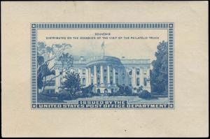 United States Scott Post Office Souvenir Sheet Unused hinged.