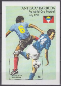 1989 Antigua and Barbuda 1257/B161 1990 FIFA World Cup in Italy