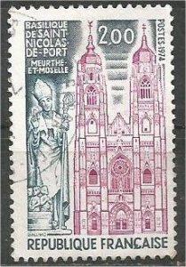 FRANCE, 1973 used 2fr, Basilica, Scott 1405