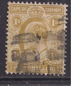 Cape of Good Hope 1902 - 04 KEV11 1/-d Yellow Ochre used SG 77 ( D1077 )