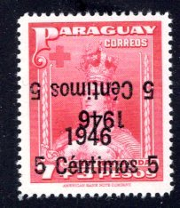 Paraguay #433, Error – Double Overprint, One Inverted.  MNH ...   4910320