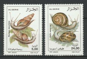 Algeria 2003 Fauna, Snails 2 MNH stamps