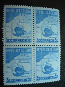 Stamps - Cuba - Scott# 437 - Mint Hinged Single Stamp in Block of 4