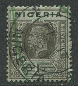 Nigeria -Scott 8 - KGV Definitive - 1914 - Used - Single 1/- Stamp