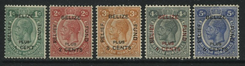 British Honduras 1932 overprinted Relief set mint o.g. hinged