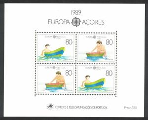 Azores Europa Children's Games and Toys MS SG#MS497 MI#Block 10 SC#382