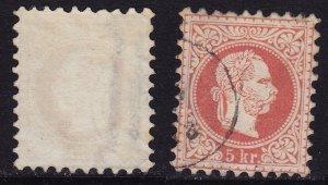 Austria - 1874 - Scott #36 - used - Watermarked