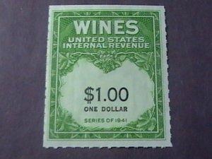 U.S.# RE173-MINT/NEVER HINGED---WINE STAMP---1949
