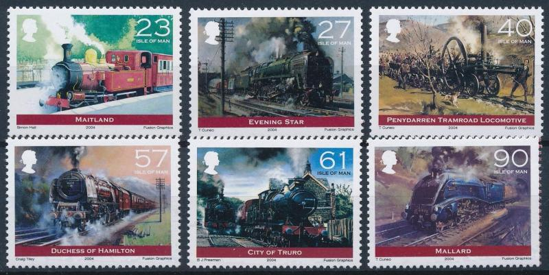 [61377] Isle Of Man 2004 Railway Train Elsenbahn Chemin De Fer  MNH
