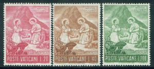 VATICAN Scott 420-422 MNH** 1965 Nativity set CV$.60