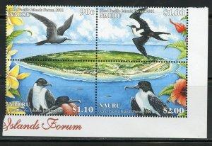 NAURU 32nd PACIFIC ISLANDS FORUM BIRDS SET & SOUVENIR SHEET MINT NH