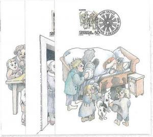 MUSIC - DOGS : 3 MAXIMUM CARD - LIECHTENSTEIN 1990
