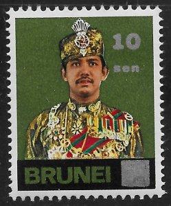 Brunei #225 10c on 6c Sultan Hassanal Bolkiah ~ MHR
