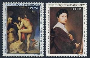 Dahomey C49-C50,MNH.Michel 307-308. Jean A.D.Ingres,1967.Paintings.