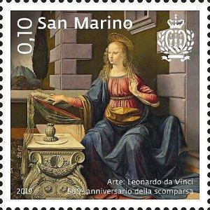 Stamps San Marino 2019. - Art: Leonardo da Vinci - Filippo Lippi - Rembrandt