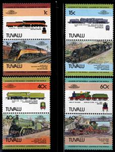 TUVALU Scott 222-225 MNH** Train pair set 1984