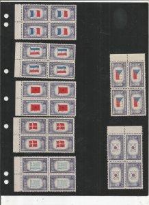 US SCOTT# 909-921 BLOCKS OF 4, MNH, OG, COMPLETE SET
