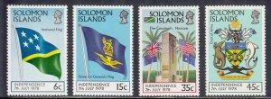 Solomon Islands Scott #369-372 MNH