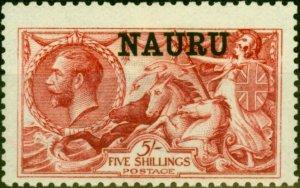 Nauru 1916 5s Brt Carmine SG22 Fine Lightly Mtd Mint
