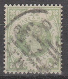 Great Britain #122 F-VF Used CV $60.00 (B11902)
