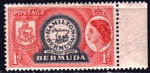 Bermuda. 1953. 131 of the series. 1st brand Bermuda, stamps on stamps. MNH.