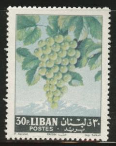 LEBANON Scott 399 MNH** 1962 Grape fruit stamp