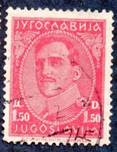 Yugoslavia Scott #67 1.50d King Alexander (1931) Used