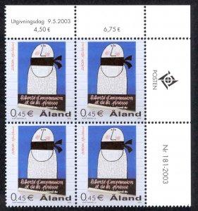 Finland Aland Islands Sc# 213 MNH PB UR 2003 Europa
